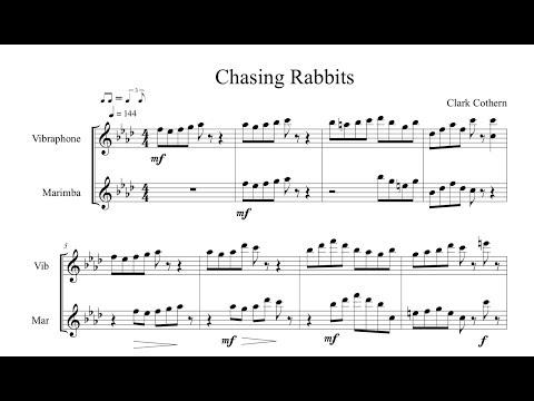 Chasing Rabbits - Duet for Vibes and Marimba - Sheetmusicplus (Demo)