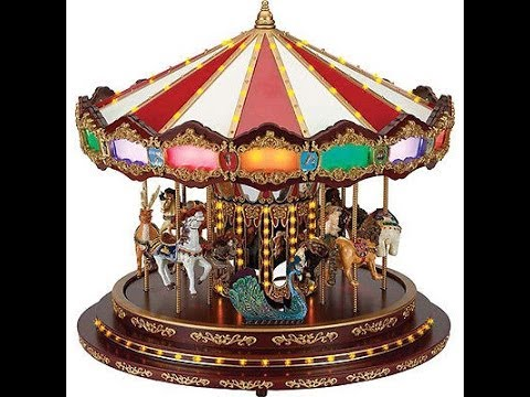 Mr Christmas Gold Label Collection Royal Marquee Carousel