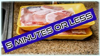 How to Quickly Defŗost Frozen Meat In Under 5 Minutes | Step by Step Instructions | The simple way