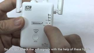 motoraux 1200mbps wifi range extender support wifi repeater ap and wifi router with four antennas