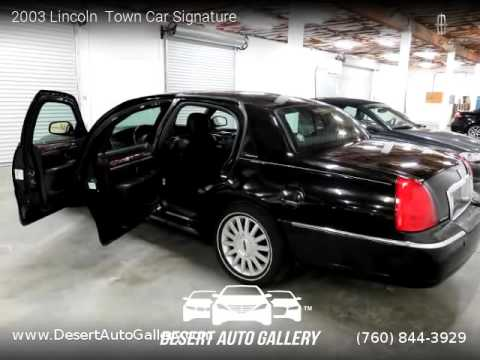 2003 Lincoln Town Car Signature Desert Auto Gallery Youtube