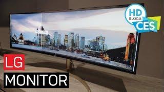 LG, nuovi MONITOR ultrawide e PROIETTORI a tiro ultra corto | CES 2019