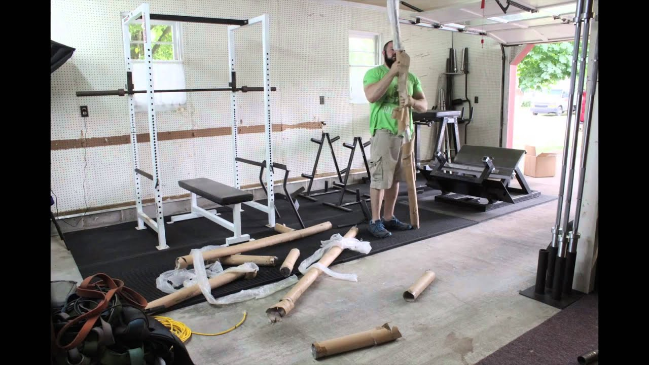 Homegym einrichten  Home Gym Construction Timelapse - YouTube