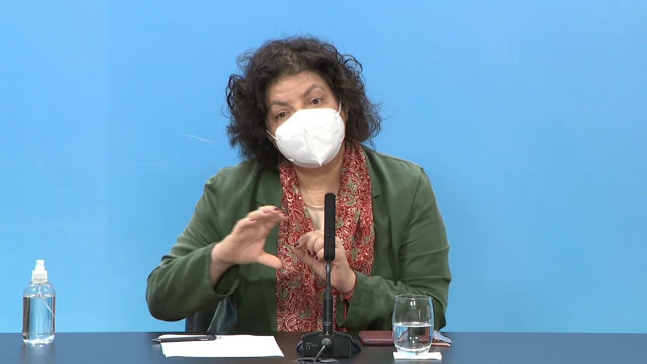 COVID 19 - Reporte de la ministra de Salud, Carla Vizzotti