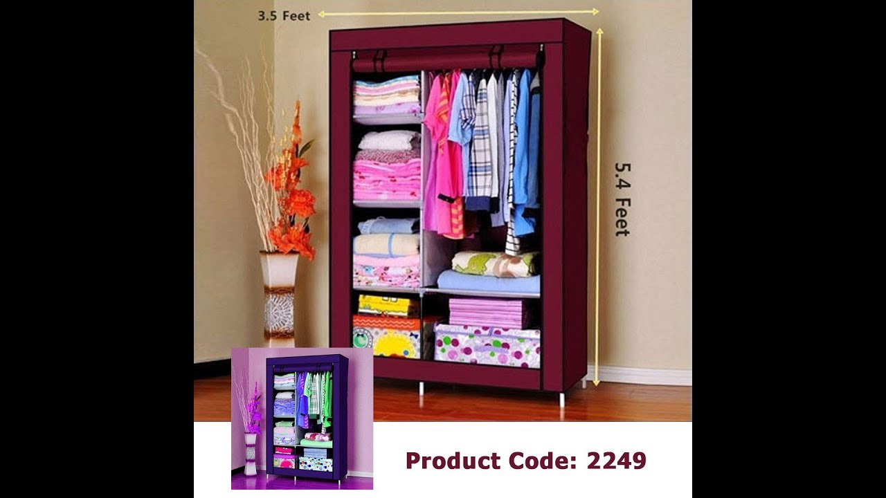 Cloth And Storage Wardrobe Model 88105   How To Setup By GadgetBangla Com