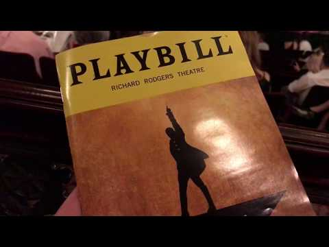 Hamilton Broadway - Orchestra Row L View - Richard Rodgers Theater