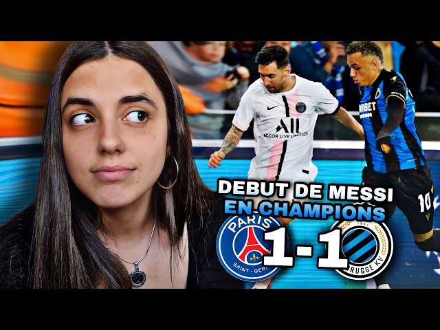 Reacción BRUJAS vs PSG 1-1 *debut de MESSI*   Champions League 2021