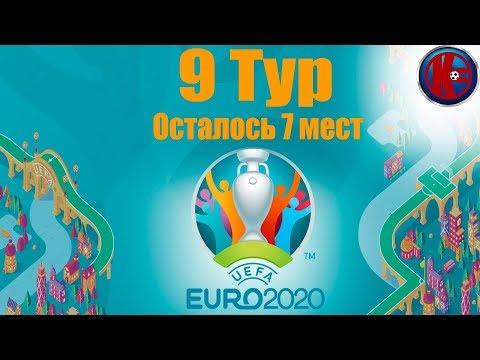 Футбол.ЕВРО-2020 Квалификация 9 тур Группы A.B.H Результаты Таблица  17 команд вышли