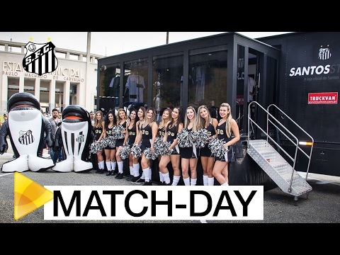 O match-day do Santos no Pacaembu
