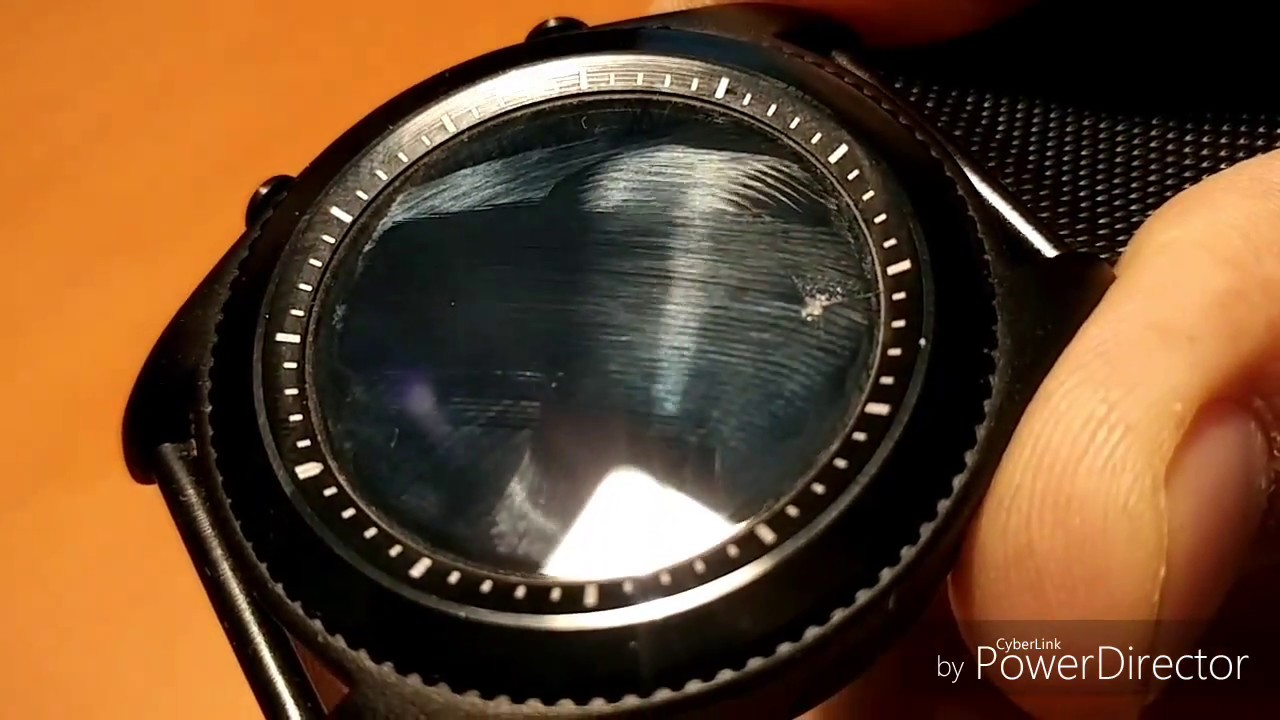 8b2015aa35a5 Smart Watch With Cracked Screen Protector - YouTube