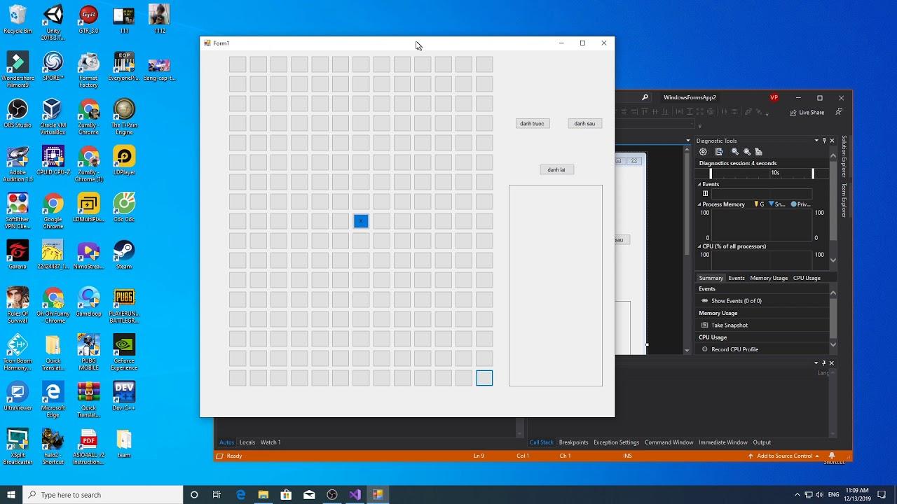 Lập trình máy master CARO    Visual studio c# from AI Cờ caro (giới thiệu)