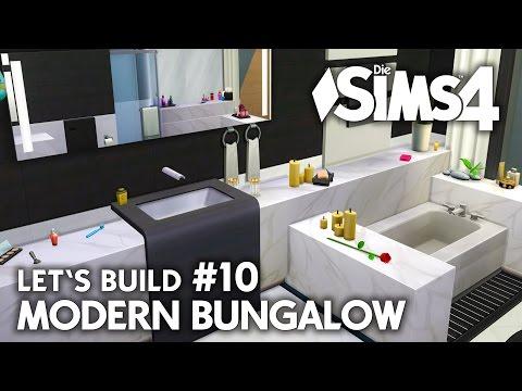 Marmor Bad | Die Sims 4 Haus bauen | Modern Bungalow #10 - Let's Build (deutsch)