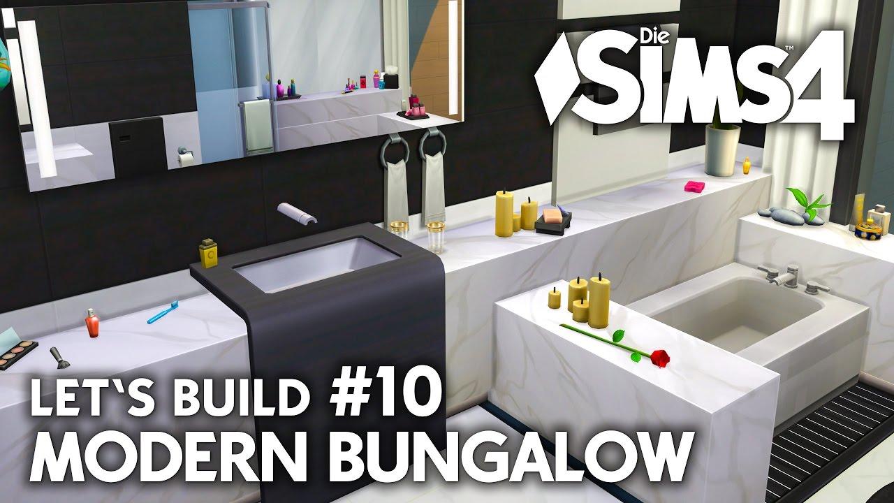 Haus bauen modern bungalow  Marmor Bad | Die Sims 4 Haus bauen | Modern Bungalow #10 - Let's ...
