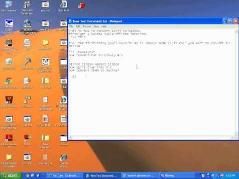 How to convert ascii to base64.avi