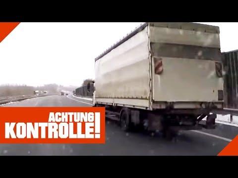 Verdächtiger LKW auf der Autobahn! Ist der LKW überladen?  | Achtung Kontrolle | kabel eins