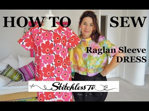 How to sew a raglan sleeve dress