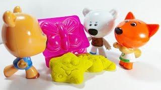 Ми-Ми-Мишки Лепят из Песочного Пластилина / Играем в Игрушки / Детское Видео для Малышей