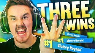 3 VICTORIES BACK TO BACK!!!  (EPIC)- Fortnite Battle Royale