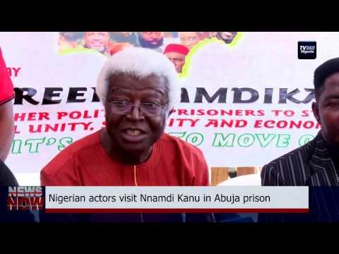 Nigerian actors visit Nnamdi Kanu in Abuja prison (Nigerian News)