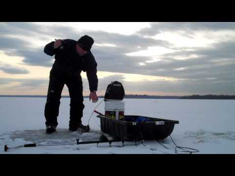 Ice Fishing Saratoga Lake With Hummingbird Ice Flasher