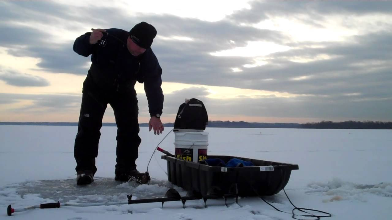 Ice fishing saratoga lake with hummingbird ice flasher for Saratoga lake fishing