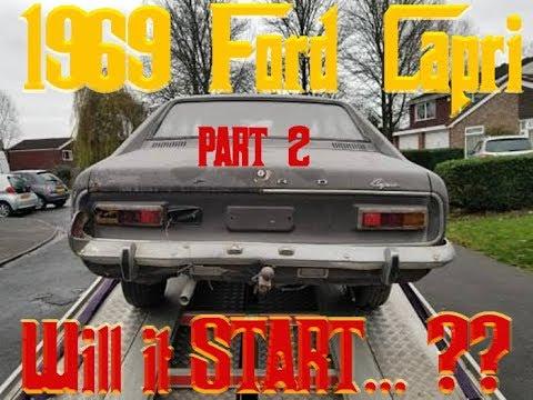 1969 FORD CAPRI Barnfind - Will it start? - PART 2