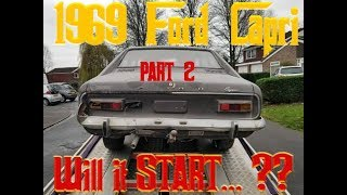 1969 FORD CAPRI Barnfind - Will it start? - PART 2