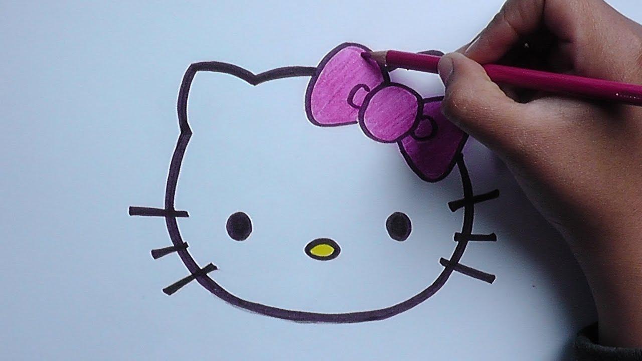 Dibujo de hello kitty  Hello kitty drawing  YouTube