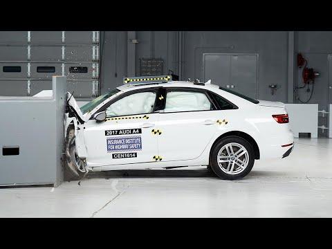 2017 Audi A4 driver-side small overlap IIHS crash test