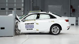 2017 Audi A4 driver-side small overlap IIHS crash test