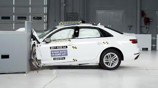 2017 Audi A4 small overlap IIHS crash test