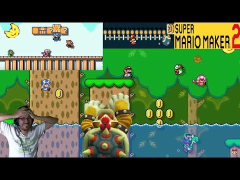 :O Mario Maker 2 reacción/El multiplayer es brutal 💪 😖/español