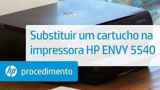 Substituir Um Cartucho Na Impressora Hp Envy 5540 Youtube