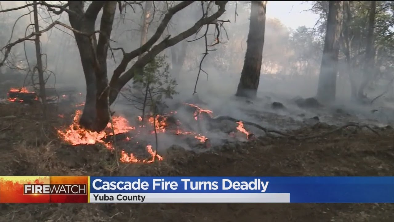 1 dead in cascade fire burning in yuba county