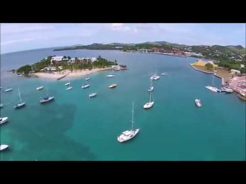 Christiansted Fly Over - St. Croix US Virgin Islands