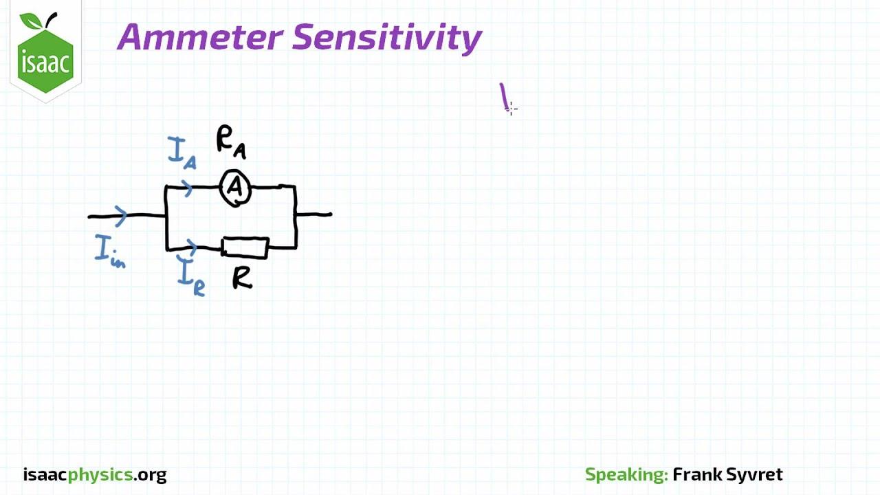 hight resolution of ammeter sensitivity resistors level 2