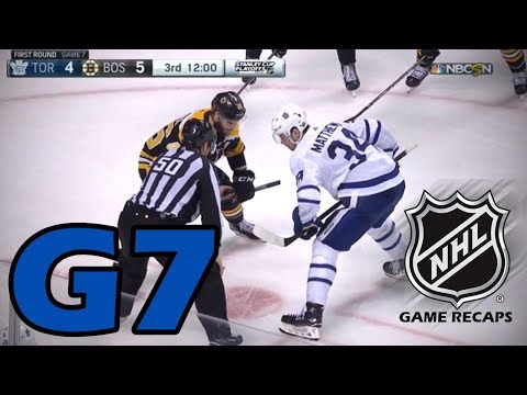 Toronto Maple Leafs vs Boston Bruins. 2018 NHL Playoffs. Round 1. Game 7. 04.25.2018 (HD)
