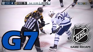 Toronto Maple Leafs vs Boston Bruins. 2018 NHL Playoffs. Round 1. Game 7. 04.25.2018 (HD)