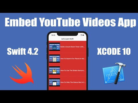 How To Embed YouTube Videos Into Your App In Xcode 10 (Swift 4.2)