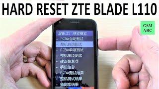 HARD RESET ZTE Blade L110   How to   Restore
