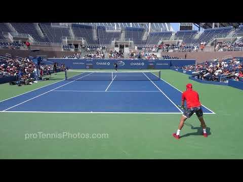 Kyrgios v Sock, 2017 US Open practice, 4K