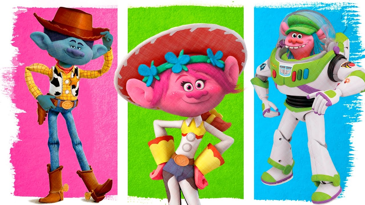 Dreamworks Trolls As Toy Story Fun Coloring Pages Videos
