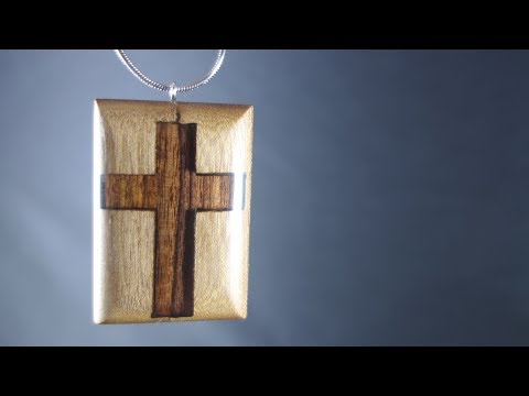 How to make a Wood Cross (Necklace) DIY