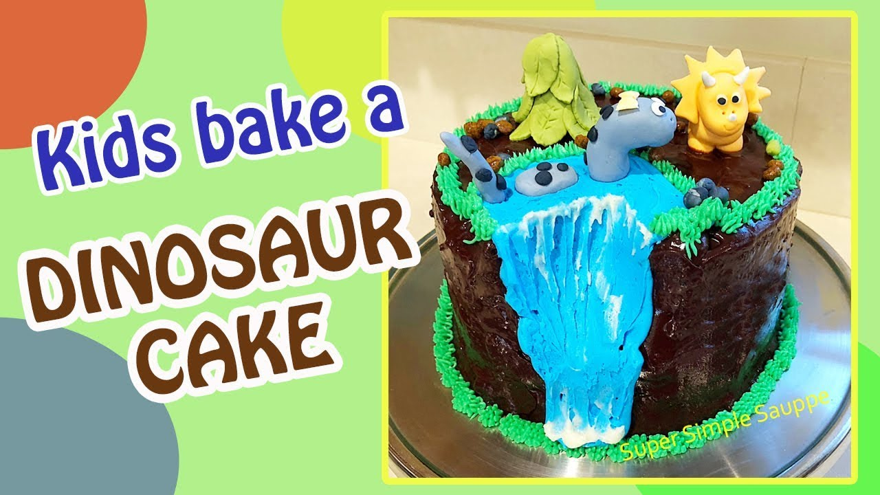 Dinosaur Cake Super Simple Sauppe Youtube