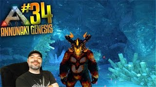 Ark Annunaki Genesis Mod Gameplay - S2 Ep 34 - FIRE GIGANTO VS ICE CAVE! (Pooping Evolved Server)