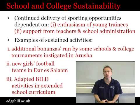 Sport and Sustainability: BILD Tanzania Programme Interim Research Findings