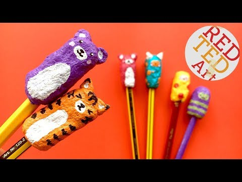 Easy Paper Kawaii Pencil Toppers   Paper Mache Project Ideas   School Supplies DIY