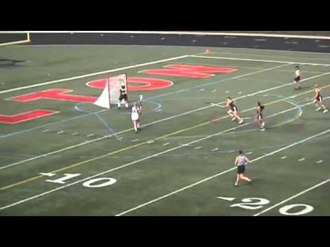 Atlanta - Annie Ruland of Milton High scores a goal in the GHSA 5A Girls Lacrosse Championship