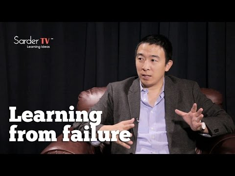 What should you learn from failure? by Andre Yang, CEO of Venture for America