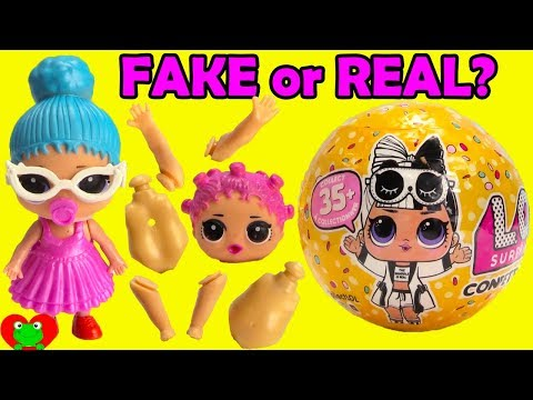 Opening FAKE or REAL LOL Surprise Confetti Pop Series 3 Wave 2